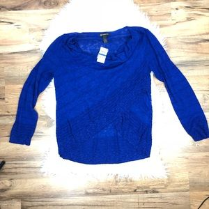 INC Blue Sweater Scoop Neck